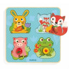 Djeco Croc-carrot puzzle `One size Age : From 1 year old * Number of pieces : 4 * Fabrics : Wood * 21 x 21 x 1 cm Box 22.6 x 22.6 x 2.5 cm. http://www.MightGet.com/january-2017-13/djeco-croc-carrot-puzzle-one-size.asp