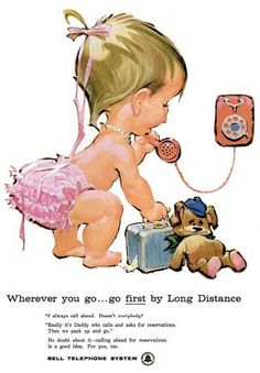 1960 Vintage Advert - Bell Telephone System  Phones for kids - I remember the campaign, too Charmaine Zoe
