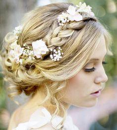 Coiffure mariage : {Bridal Hair} 25 Wedding Upstyles and Updos Bohemian Wedding Hair, Romantic Wedding Hair, Mod Wedding, Wedding Hair And Makeup, Dream Wedding, Hair Makeup, Hair Wedding, Wedding Braids, Romantic Updo
