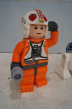 Life-size LEGO X-wing, Luke Skywalker on Flickr