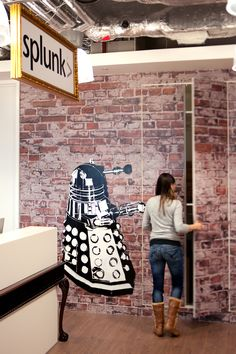 """Exterminate!"" Better watch out for the Daleks at Splunk's London office."