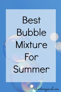 A super easy recipe (only 3 ingredients) for making your own bubble mixture - plus a handy way of dispensing the bubbles so the kids can fill up their pots themselves! Perfect fun for summer!
