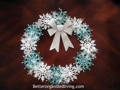 Pottery Barn Inspired Snowflake Wreath