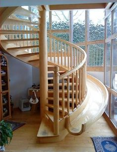 I don't even care about the slide. I've wanted a spiral staircase for so long it's crazy.