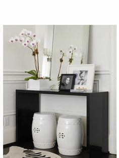 like the mirror, table, stools, orchids...everything!