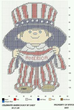 Plastic Canvas Crafts, Plastic Canvas Patterns, July Crafts, Tissue Box Covers, Holidays And Events, Fourth Of July, Cross Stitch Patterns, Needlework, Canvas Ideas
