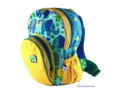 Rucksäcke - Kinderrucksack Elefanten - ein Designerstück von jetzt-wirds-bunt bei DaWanda