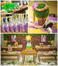 Tangled Rapunzel + festa de aniversário temático via de Kara Idéias do partido KarasPartyIdeas.com Bolo, decoração, fontes, favores, sobremesas e muito mais! #tangled #rapunzel #tangledparty #rapunzelparty (2)