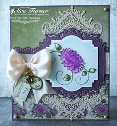 Die cut card with stamped images by Bellisima Vida: Heartfelt Creations
