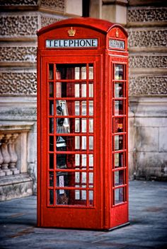 An English phone booth
