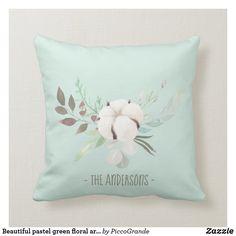 Beautiful pastel green floral arrangement custom throw pillow Elegant Homes, Custom Pillows, Floral Arrangements, Your Design, Mothers, Aesthetics, Pastel, Valentines, Throw Pillows