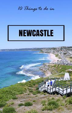 Newcastle, NSW: Bar Beach from the Anzac memorial walkway.