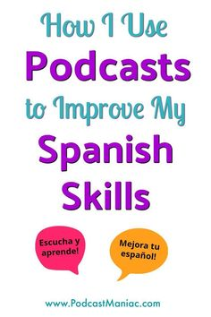 How to Improve Your Spanish with Podcasts Becoming fluent in Spanish has been a goal of mine for a long time. My husband and I both use podcasts to learn Spanish. You can improve your Spanish by using podcasts, too! Teach Yourself Spanish, Spanish Lessons For Kids, Learn To Speak Spanish, Learn Spanish Online, Spanish Basics, Spanish Lesson Plans, Read In Spanish, Spanish Notes, French Lessons
