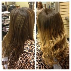 """am I the only one who thinks """"ombre"""" hair color looks more like """"letting your hair color grow out---need a root touch up"""" not a fan of this new trend :/"""