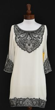 Alice + Olivia  Willow Silk Lace Embroidered Dress