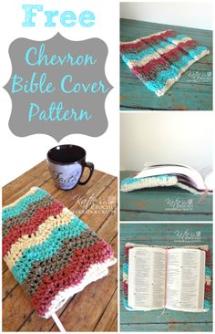 Free #chevron Bible Cover Pattern by http://KatiesCrochetGoodies.com