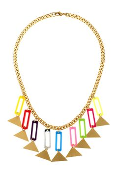 Items similar to Geometric statement necklace, Colorful bib necklace, Geometric necklace, Rectangle and triangle necklace on Etsy Triangle Necklace, Geometric Necklace, Colorful, Unique Jewelry, Handmade Gifts, Vintage, Etsy, Kid Craft Gifts, Craft Gifts