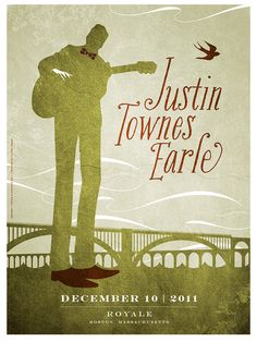 Justin Townes Earle concert poster