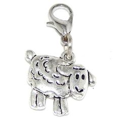 GemStorm Silver Plated Dangling Pink /& White Enamel Owl wClip On Lobster Clasp Charm
