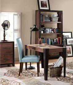 Upton desk - desks - home office furniture - furniture reclaimed furniture Small Office Design, Office Interior Design, Office Designs, Distressed Furniture, Shabby Chic Furniture, Reclaimed Furniture, Rustic Office, Office Decor, Office Ideas