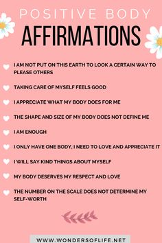 Love Your Body Quotes, Body Image Quotes, Body Positive Quotes, Positive Body Image, Positive Vibes, Positive Affirmations Quotes, Self Love Affirmations, Affirmation Quotes, Feeling Beautiful Quotes