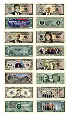 Donald and Melania Trump 2020 Re-Election Presidential Dollar B... Pack of 100