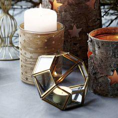 Set Of Two Diamond Tealight Holders - Home