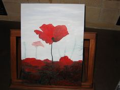 I painted this for a friend to go with her collection of watercolors - Red Poppies that Pop!