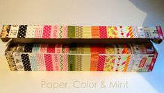 Paper, Color and Mint: DIY - Washi storage o cómo guardar nuestros washi tapes