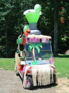 Golf Cart turned Margaritaville Party!