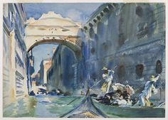 """The Bridge of Sighs,"" John Singer Sargent, ca. 1903-1904, 10 x 14"", Brooklyn Museum."