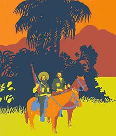 Untitled silkscreen by Cuban artist Rene Mederos, 1972