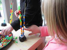 Spaghetti Towers | Pre-school Play.
