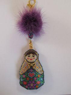 Matryoshka Russian Doll Charm Peyote/Brick Stitch PDF by SianNolan