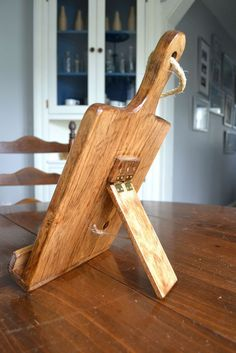 Rustic Wood iPad Stand For The Kitchen Cutting Board by Roostic, $35.00: