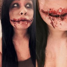 Chelsea Smile Sfx Makeup (Chelsea Grin, Safety Pins, Cut Mouth, Joker, Bloody)  •  Create a cut / gash in under 20 minutes