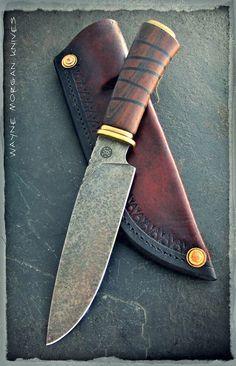 Wayne Morgan Knives. the detail of the handle. like this