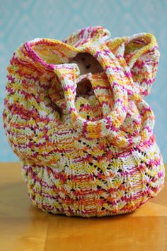 Chevron Market Bag Balls to the Walls Knits, A collection of free one- and two- skein #knitting patterns