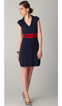Navy + red <3<3<3  Something I would have worn pre-38 yrs.
