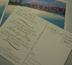 SAVE THE DATES! Destination Save the Date Postcard Set of 25 by theinspirednote, $35.00