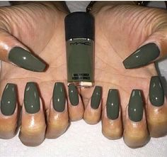 Coffin nails army green