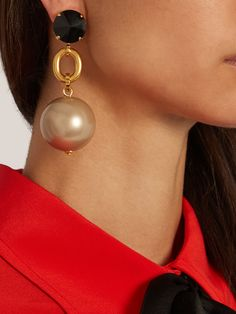 Ball-drop clip-on earrings | Marni | MATCHESFASHION.COM UK