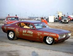 Big John Mazmanian's Plymouth Barracuda Funny Car.  #OldSchoolNHRA