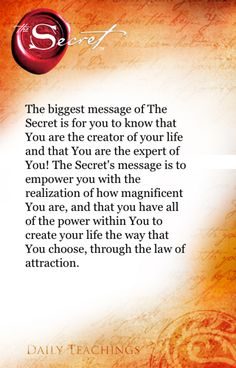 The Secret ~ Law of Attraction