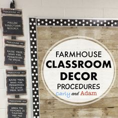 Farmhouse Chic Chalkboard and Wood Classroom Procedures Posters! These are the 6 procedures I put up in my classroom! Just print, laminate, and put up around your classroom. An Editable Template is also included! Classroom Routines, Classroom Procedures, Classroom Rules, Classroom Setting, Classroom Setup, Classroom Design, Future Classroom, School Classroom, Classroom Management