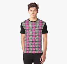 Pink Green Tiled Pattern Tshirt #redbubble #fashion #style http://www.redbubble.com/people/donnagrayson/works/22881700-pink-green-tiled-pattern?asc=t&p=mens-graphic-t-shirt