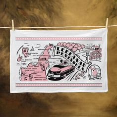 Heavier and thicker than standard flour sack towels, these towels are fully decorated with our vintage-inspired Leelanau Peninsula, Michigan map art. They will get softer with every wash and last for years. Convenient corner tab on back lets you hang the towel anywhere.
