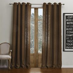 Modern Brown Solid Curtain  #curtains #decor #homedecor #homeinterior #brown