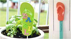 bastelideen-sommer-kleinkinder-gartenschilder-flip-flops