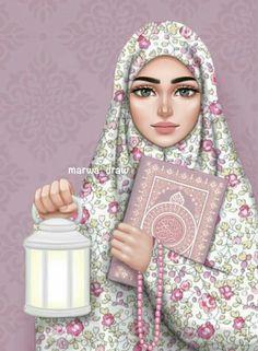335 images about Muñecas Hermosas♡ on We Heart It See more girly_m hijab ramadan - Hijab Girly M, Muslim Girls, Muslim Women, Art And Illustration, Landscape Illustration, Sarra Art, Hijab Drawing, Islamic Cartoon, Anime Muslim